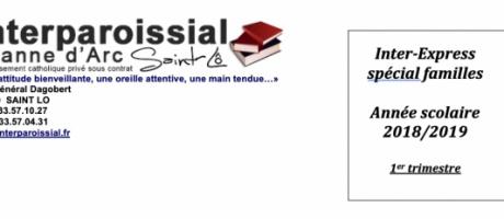 Inter-Express spécial familles n°1 (Année scolaire 2018/2019)