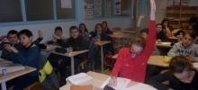 Les CM2 de l'école Interparoissial en intégration au collège