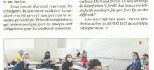 La moitié des élèves de retour au collège de l'Interparoissial
