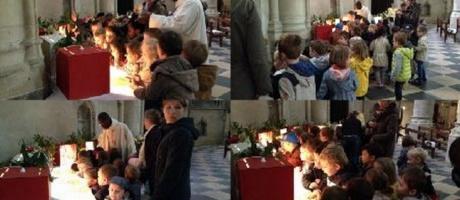 Les maternelles à l'église Notre-Dame