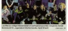Collège Interparoissial : les filles préparent la Coupe