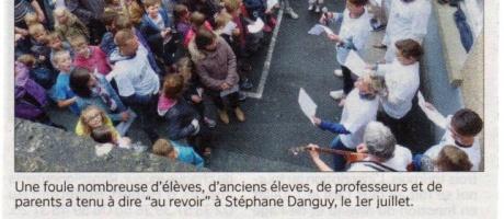 L'heure du départ pour Stéphane Danguy