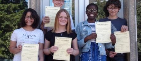 Des diplômes européens remis aux élèves de troisième de l'Interparoissial