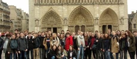 Les élèves de l'Interparoissial à Paris