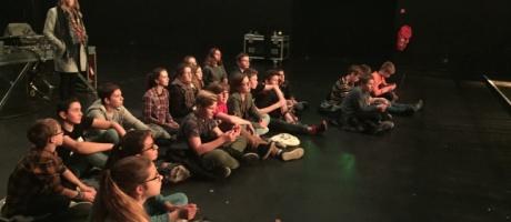 Les élèves de l'Interparoissial au Normandy
