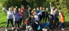 Les sixièmes du collège Interparoissial pratiquent le plogging : la course qui lutte contre les ordures